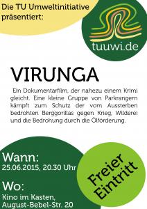Filmplakat der Tuuwi für Virunga